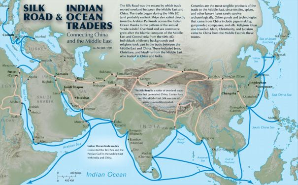temp - Silk Road annotated map